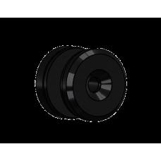 Abdeckscheibe Ø30 mm mit 7mm Wandabstand - für M6 Senkkopfschraube, Schwarz beschichtet
