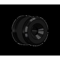 Abdeckscheibe Ø30 mm mit 7mm Wandabstand - für M8 Senkkopfschraube, Schwarz beschichtet