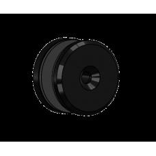 Abdeckscheibe Ø40 mm mit 7mm Wandabstand - für M6 Senkkopfschraube, Schwarz beschichtet