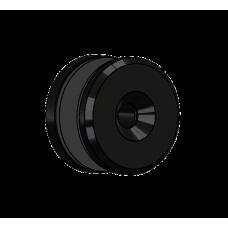 Abdeckscheibe Ø40 mm mit 7mm Wandabstand - für M8 Senkkopfschraube, Schwarz beschichtet