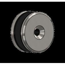 Abdeckscheibe Ø50 mm mit 7mm Wandabstand - für M8 Senkkopfschraube, Edelstahl