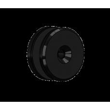 Abdeckscheibe Ø50 mm mit 7mm Wandabstand - für M8 Senkkopfschraube, Schwarz beschichtet