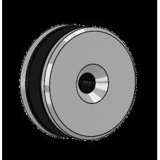Abdeckscheibe Ø60 mm mit 7mm Wandabstand - für M10 Senkkopfschraube, Edelstahl