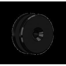 Abdeckscheibe Ø50 mm mit 7mm Wandabstand - für M10 Senkkopfschraube, Schwarz beschichtet