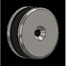 Abdeckscheibe Ø60 mm mit 7mm Wandabstand - für M8 Senkkopfschraube, Edelstahl