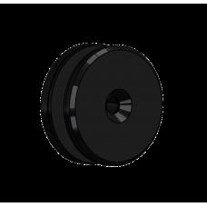 Abdeckscheibe Ø60 mm mit 7mm Wandabstand - für M8 Senkkopfschraube, Schwarz beschichtet
