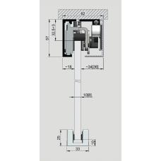 Banana Slide 50 Komplettset, Profillänge = 2000 mm  - Deckenmontage EV1