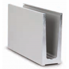 Glas Profil TL-6010, Profillänge = 5000 mm, EV1 eloxiert