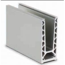 Glas Profil TL-6020, Profillänge = 5000 mm, EV1 eloxiert