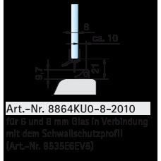 Dichtprofil für unteren Wannenanschluss, Transparent