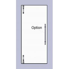 Compact Set 1 - Serles Drehtür für 10mm ESG in Maueröffnung