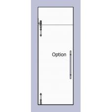 Compact Set 2 - Serles Drehtür mit Oberlichte für 10mm ESG