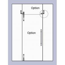 Compact Set 3 - Serles Drehtür mit  Aufnahme für Oberlichte und Seitenteil für 10mm ESG