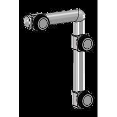 Oberlicht Stützelement m - line, für 10 mm ESG