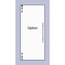 Compact Set 1 - Serles m - line Drehtür für 10mm ESG in Maueröffnung
