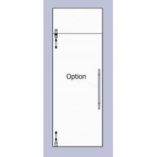 Compact Set 2 -  m - line Drehtür mit Anbindung für die Oberlichte, für 10mm ESG