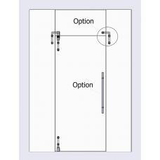 Compact Set 3 -  m - line Drehtür mit Aufnahme für Oberlichte und Seitenteil, für 10mm ESG