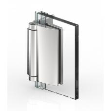 Duschtürband Farfalla, Glas-Wand 90°, Edelstahloptik
