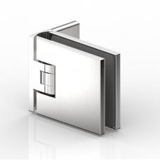 Flamea Duschpendeltürband Glas - Wand 90°, Edelstahloptik
