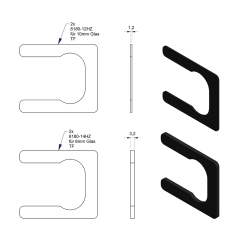 HZ Set 1 für 6/10 mm Glas