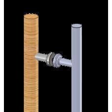 Griffpaar kombiniert - Edelstahl Ø25 und Holz Ø30mm, EICHE, Sonderlänge von 100 - 500 mm