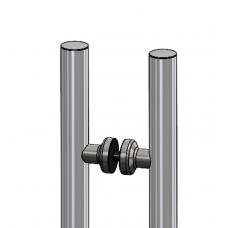 m - line Griffpaar mit verkürzter Strebe, Grifflänge = 350 mm, Edelstahl