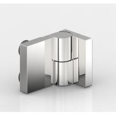 Anschlagtürband Nivello+, Glas-Wand 90°, Edelstahloptik