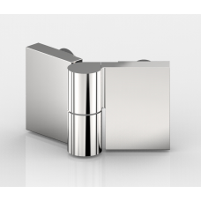 Anschlagtürband Nivello+, Glas-Glas 135°, Edelstahloptik