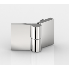 Anschlagtürband Nivello+, Glas-Glas 135°, mattverchromt