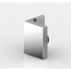 Winkelverbinder Nivello+, Glas-Wand 90° flächenbündig, Edelstahloptik