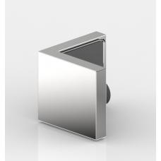 Winkelverbinder Nivello+, Glas-Glas 90° flächenbündig, Edelstahloptik