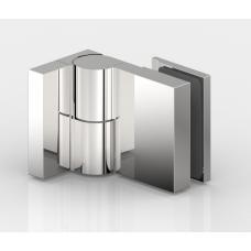 Anschlagtürband Nivello, Glas - Wand 90°, Edelstahloptik