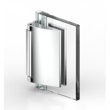 Duschtürband Papillon, Glas - Wand 90°, Edelstahleffekt