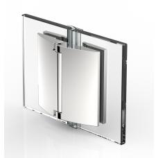 Duschtürband Papillon, Glas - Glas 180°, Edelstahloptik