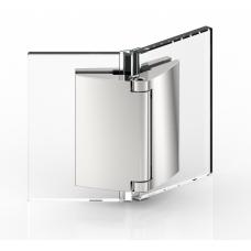 Duschtürband Papillon, Glas - Glas 135°, Edelstahleffekt
