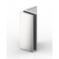 Winkelverbinder Glas - Wand 90°, Edelstahloptik
