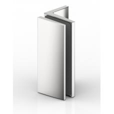 Winkelverbinder Glas - Wand 90°, RAL9005 schwarz matt