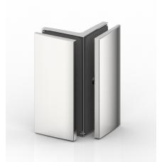 Winkelverbinder Glas - Glas 90°, RAL9005 schwarz matt