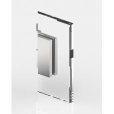 Winkelverbinder Glas - Wand 135°, mattverchromt