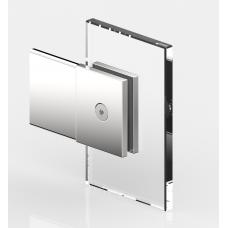 Winkelverbinder Glas - Wand 180°, mattverchromt