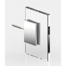 Winkelverbinder Glas - Wand 90°, mattverchromt