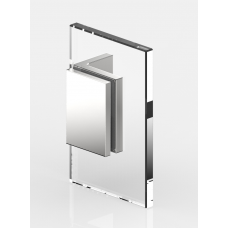 Winkelverbinder Glas - Wand 90°, schwarz glänzend