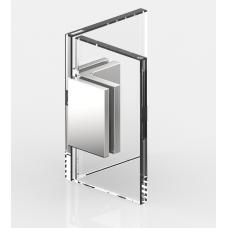 Winkelverbinder Glas - Glas 90°, schwarz glänzend