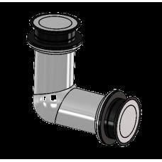 Winkelverbinder starr Glas/Glas 90°, für ESG 10 mm