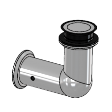 Winkelverbinder starr Glas/Wand 90°, für ESG 10 mm