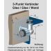 3 - Punkt Verbinder starr Wand/Glas/Glas, für ESG 12 mm