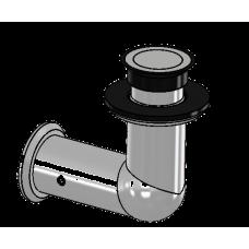 Winkelverbinder starr Glas/Wand 90°, für 16,76 mm