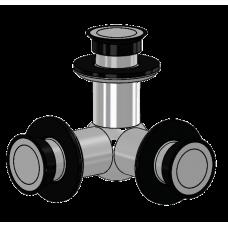 3 - Punkt Verbinder starr Glas/Glas/Glas, für 16,76 mm